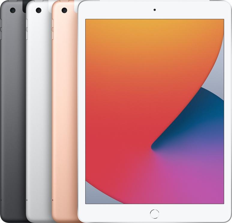 """Planšetinis kompiuteris Apple iPad 8th Gen 10.2"""" Wi-Fi + Cellular (2020) 32GB Silver"""
