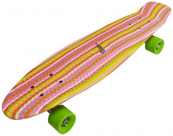 No Rules Skateboard fun Deluxe Rainbow Pink / Green / Orange
