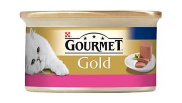 Konservuotas ėdalas katėms Gourmet Gold, su jautiena, 85 gr
