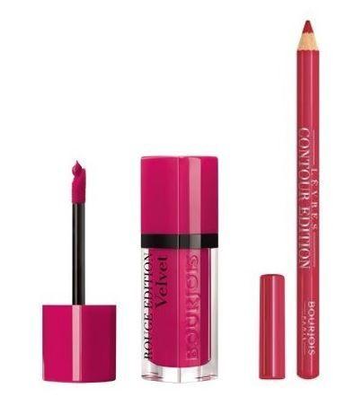 BOURJOIS Paris Rouge Edition Velvet 7.7ml 6 + Contour Lip Liner 1.14g 4