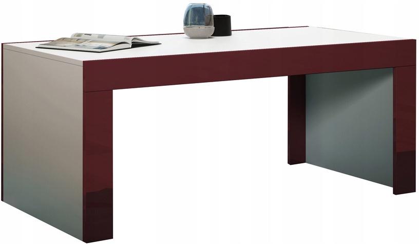 Kavos staliukas Pro Meble Milano White/Red, 1200x600x500 mm