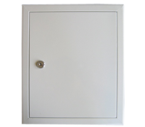 Glori ir Ko Access Panel 400x500 White With Key Lock