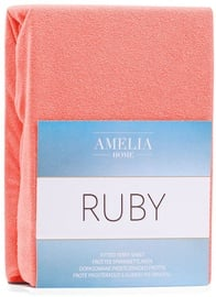 AmeliaHome Ruby Frote Bedsheet 100-120x200 Coral 46