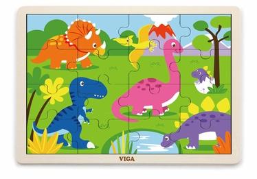 Puzle VIGA Dinosaur, 16 gab.