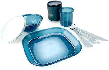 Trauku komplekts GSI Outdoors Infinity 1 Person Tableset Blue