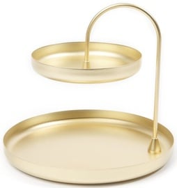 Umbra Poise Two Tiered Accessory Tray Brass