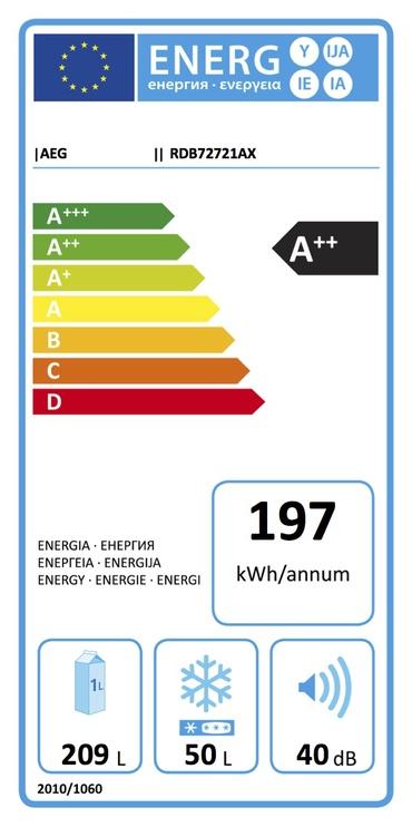 Šaldytuvas AEG RDB72721AX