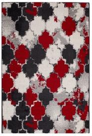 Ковер Evelekt Lotto 6, белый/черный/красный, 150 см x 100 см