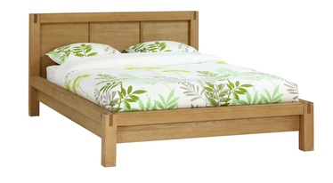 Home4you Chicago New Bed w/ Mattress Olympia Delux 160x200cm Oak