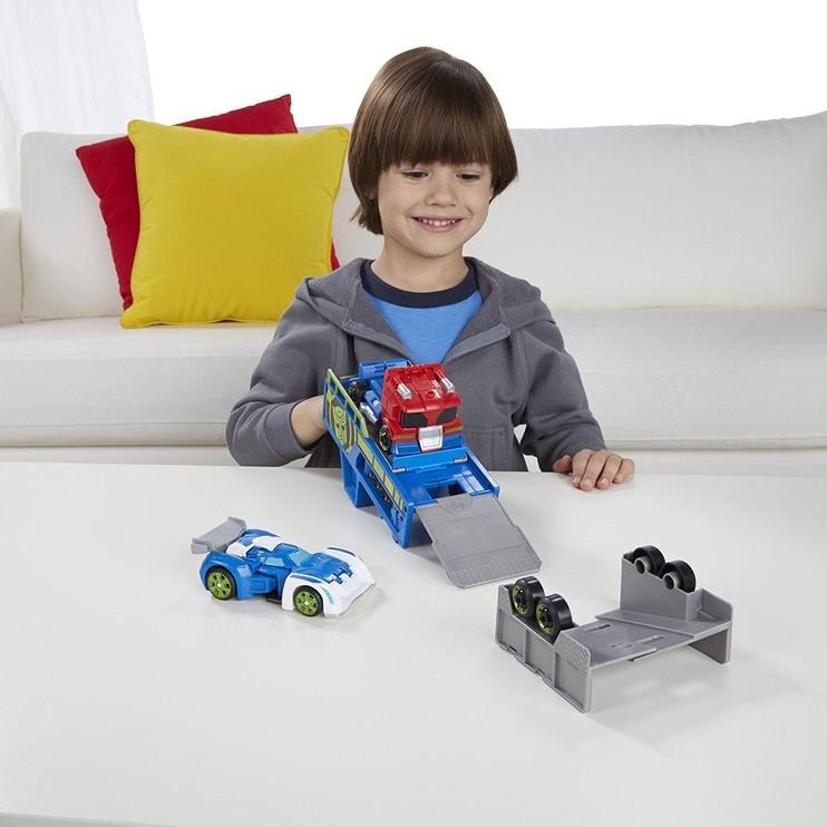 Hasbro Rescue Bots Optimus Prime Racing Trailer B5584