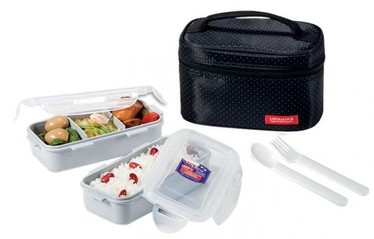Lock&Lock Food Bag With 2 Containers 510ml And Bottle/Black