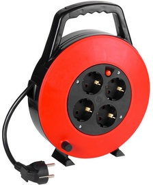 Vivanco Cable Reel Black/Red 7.5m 39614