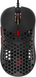 Žaidimų pelė Spc Gear LIX Plus Black, laidinė, optinė