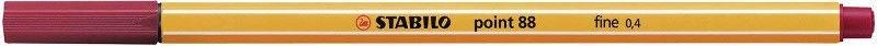Stabilo Point 88 Fineliner 0.4mm Dark Red 88/50