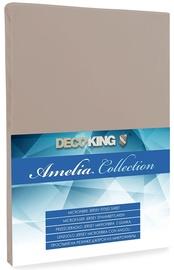 Простыня DecoKing Amelia Cappuccino, 180x200 см, на резинке