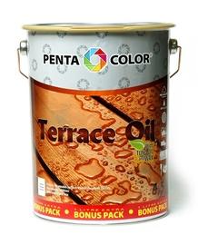 Aliejus terasoms su tungu Pentacolor Terrace Oil, tamsiai ruda, 4.5 l