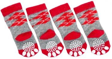 Karlie Flamingo Doggy Socks M Red/Grey