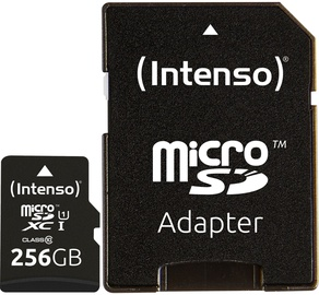 Intenso Premium 256GB microSDXC UHS-I Class 10 + SD Adapter