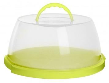 Plast Team Cake Box With Handle 32x32x14.9cm Green