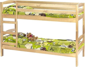 Dviaukštė lova Halmar Sam Pine, 198x85 cm