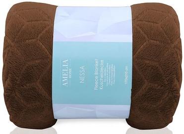 AmeliaHome Nessa Fleece Blanket Brown 70x150cm