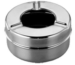 Sharda Ashtray Metal ø8.7cm Chrome