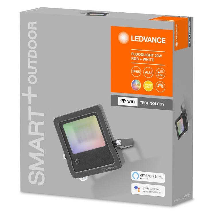 Светильник Ledvance 4058075474628, 1 шт., 20Вт, led, IP65, серый