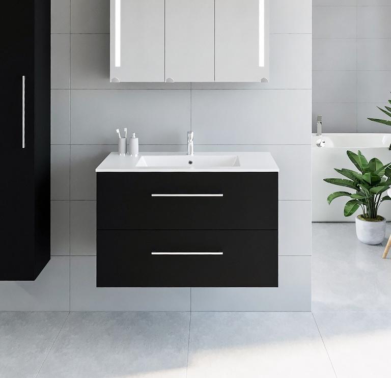 Vonios spintelė Riva SA91, juoda