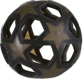 Hevea Star Ball Teether Charcoal Black