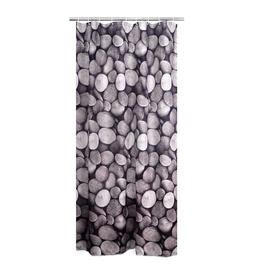 Vonios užuolaida Ridder Piedras, su akmenukais, 180 x 200 cm