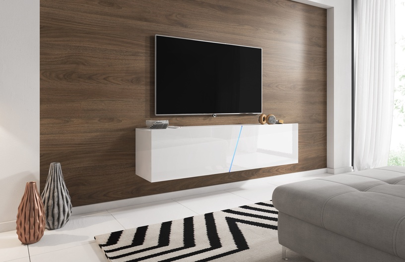 TV galds Vivaldi Meble Slant 160, balta, 1600x400x340 mm