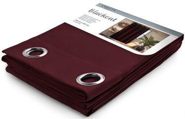 AmeliaHome Blackout Curtains Burgundy 140x245cm