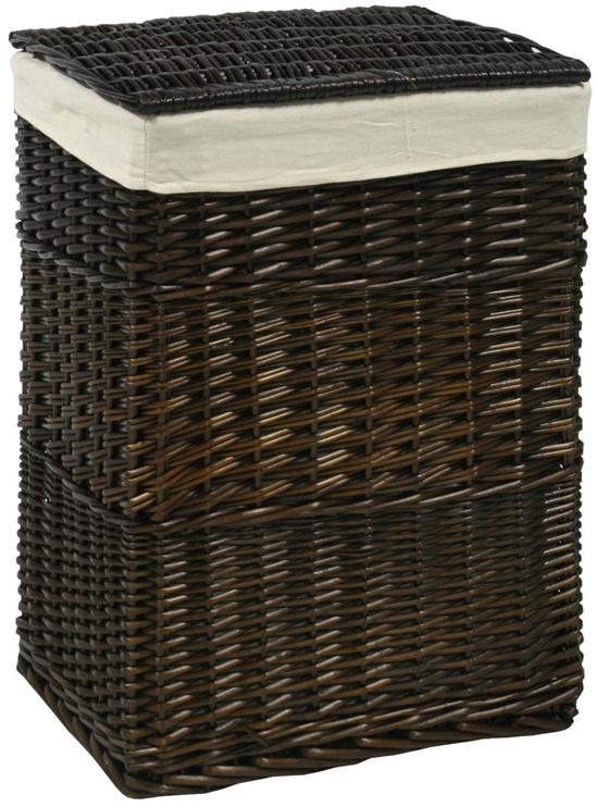 Home4you Laundry Basket Max 45x34xH59cm Dark Brown