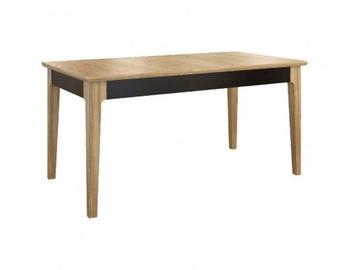 Pusdienu galds Mebin Maganda Antique Walnut/Black, 2180x850x760 mm