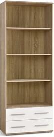 Halmar Lima Reg 3 Sonoma Oak/Glossy White
