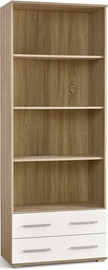 Knygų lentyna LIMA REG3 Sonoma Oak/Glossy White