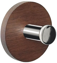 Spirella Hooks Punt Wood Ø5cm Dark Brown