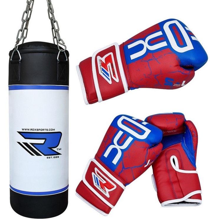 RDX JPB-2U-2FT Bag with Boxing Gloves Set Kids' Set