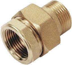 "Sobime Cone Union Adapter Brass 1 1/4"" MF"