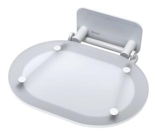 Universali dušo sėdynė Ravak, Chrome, skaidri / balta