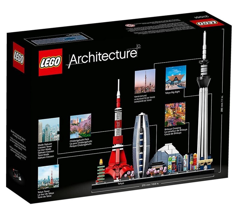 Конструктор LEGO Architecture Tokyo Japan 21051 21051, 547 шт.