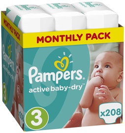Pampers Active Baby-Dry S3 208