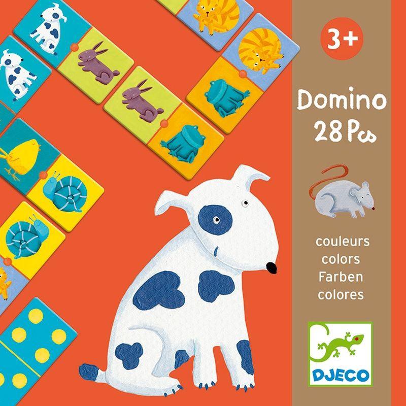 1a Farben.Djeco Domino Colour Animals Dj08111