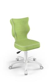 Детский стул Entelo Petit VS05, белый/зеленый, 350 мм x 830 мм