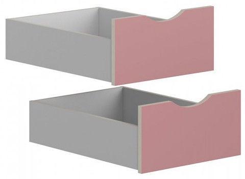 Коробка Black Red White Drawers for Stanford Wardrobe Light Grey/Pink
