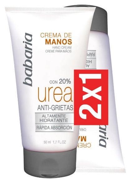 Rankų kremas Babaria Urea 20%, 2 x 100 ml