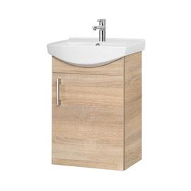 Pakabinama vonios spintelė su praustuvu Riva Sonoma sa45-18, Sonoma Oak