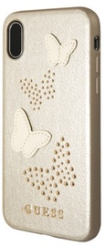 Guess Studs And Sparkle Hard Back Case For Apple iPhone X Beige