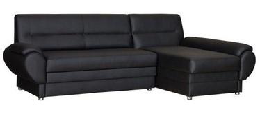 Bodzio Livonia Right Corner Folding Sofa Eco Leather Black
