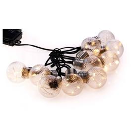 Elektriskā virtene DecoKing Ruffi Crystal Ball LED, 10 gab.